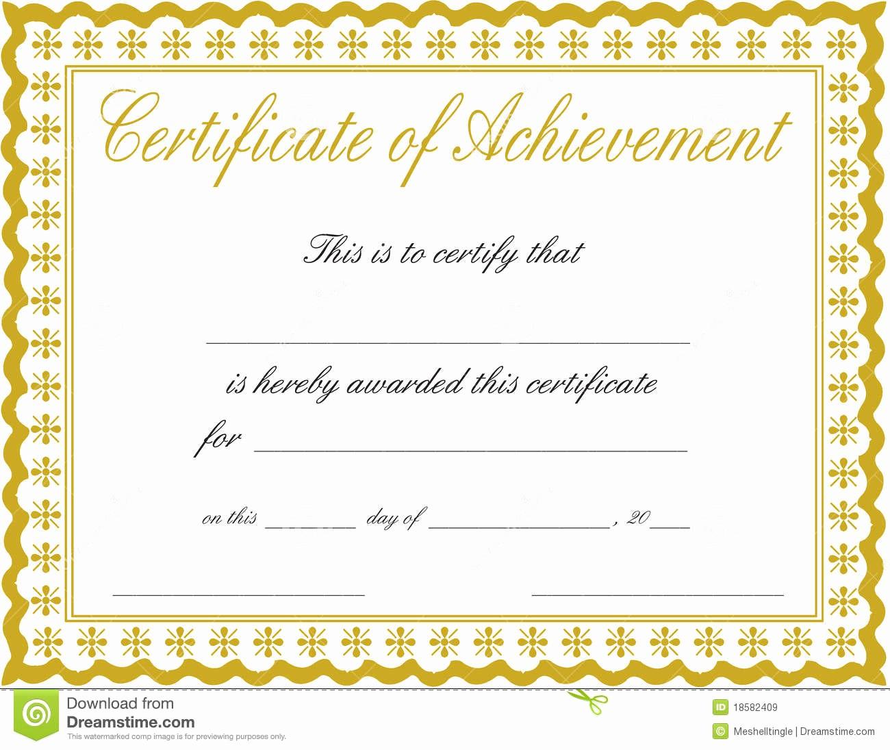 Free Download Award Certificate Templates Unique Docx Achievement Certificates Templates Free Certificate
