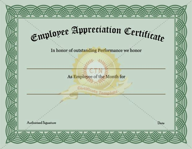 Free Download Award Certificate Templates Unique Employee Recognition Certificate Template Appreciation