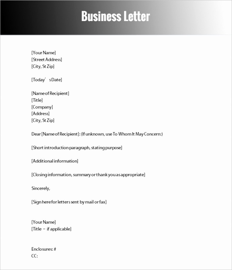 Free Download Business Letter Template Unique Download Free Business Change Address Letter Template