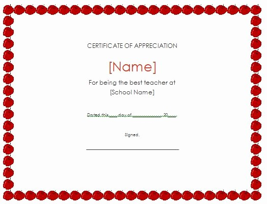 Free Download Certificate Of Appreciation Awesome 31 Free Certificate Of Appreciation Templates and Letters