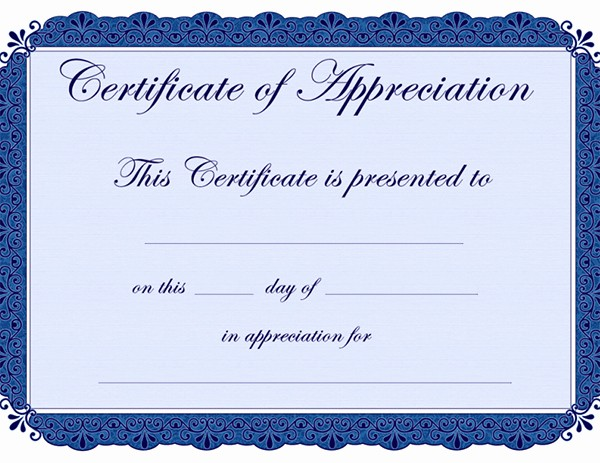 Free Download Certificate Of Appreciation Awesome Certificate Of Appreciation Templates