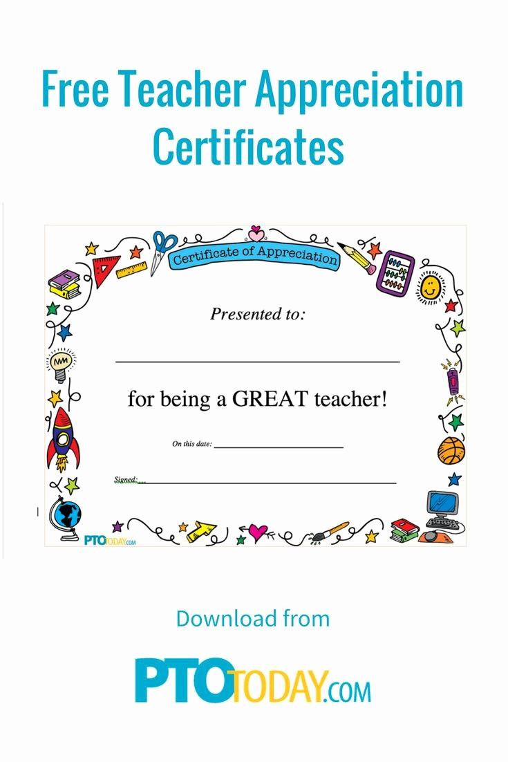 Free Download Certificate Of Appreciation Beautiful Best 25 Teacher Appreciation Letter Ideas On Pinterest