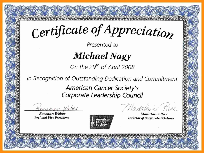 Free Download Certificate Of Appreciation Elegant 12 13 Certification Of Appreciation Wording