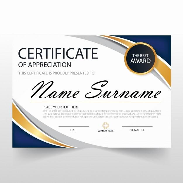 Free Download Certificate Of Appreciation Elegant Wavy Certificate Of Appreciation Template Vector