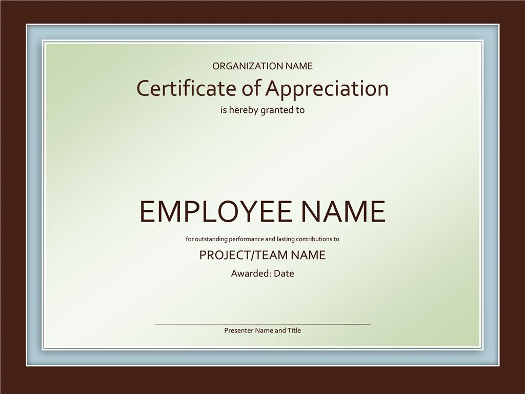 Free Download Certificate Of Appreciation Fresh Certificates Fice