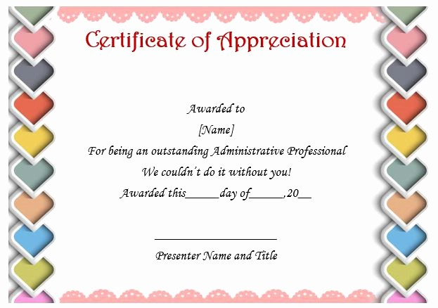 Free Download Certificate Of Appreciation Inspirational 50 Professional Free Certificate Of Appreciation