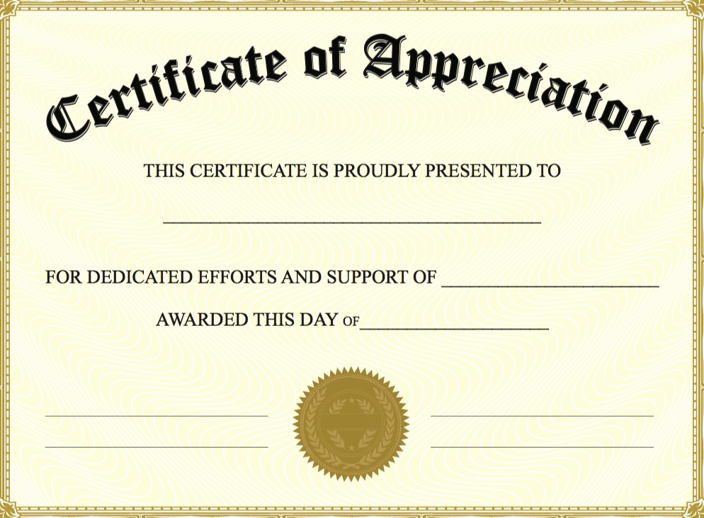 Free Download Certificate Of Appreciation Inspirational 6 Best Of Create Awards Line Certificate
