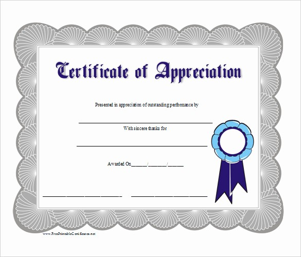 Free Download Certificate Of Appreciation Inspirational Business Gift Certificate Template – 11 Free Word Pdf