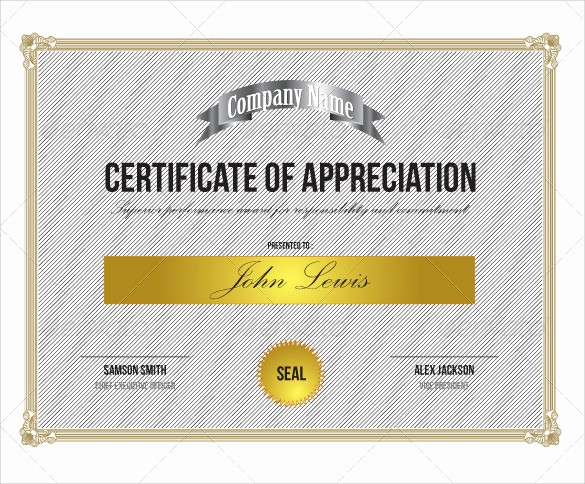 Free Download Certificate Of Appreciation Lovely 24 Sample Certificate Of Appreciation Temaplates to