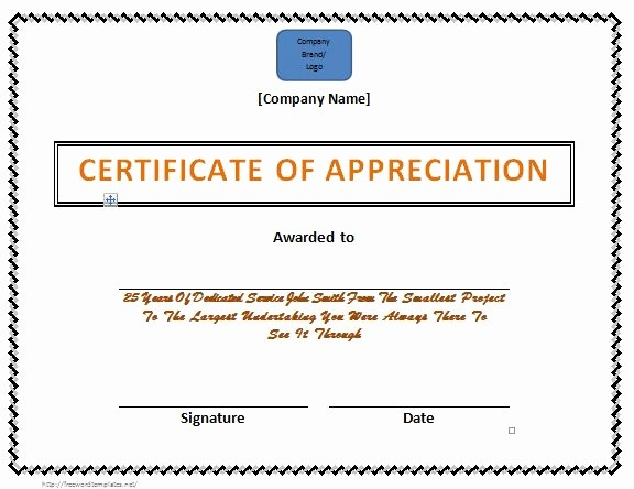 Free Download Certificate Of Appreciation Unique 31 Free Certificate Of Appreciation Templates and Letters