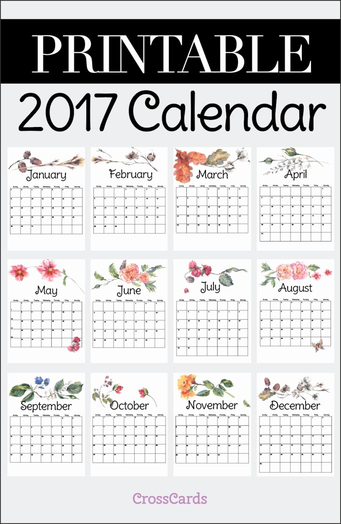 Free Download Of 2017 Calendar Beautiful Free Printable 2017 Calendar Printable Download Free