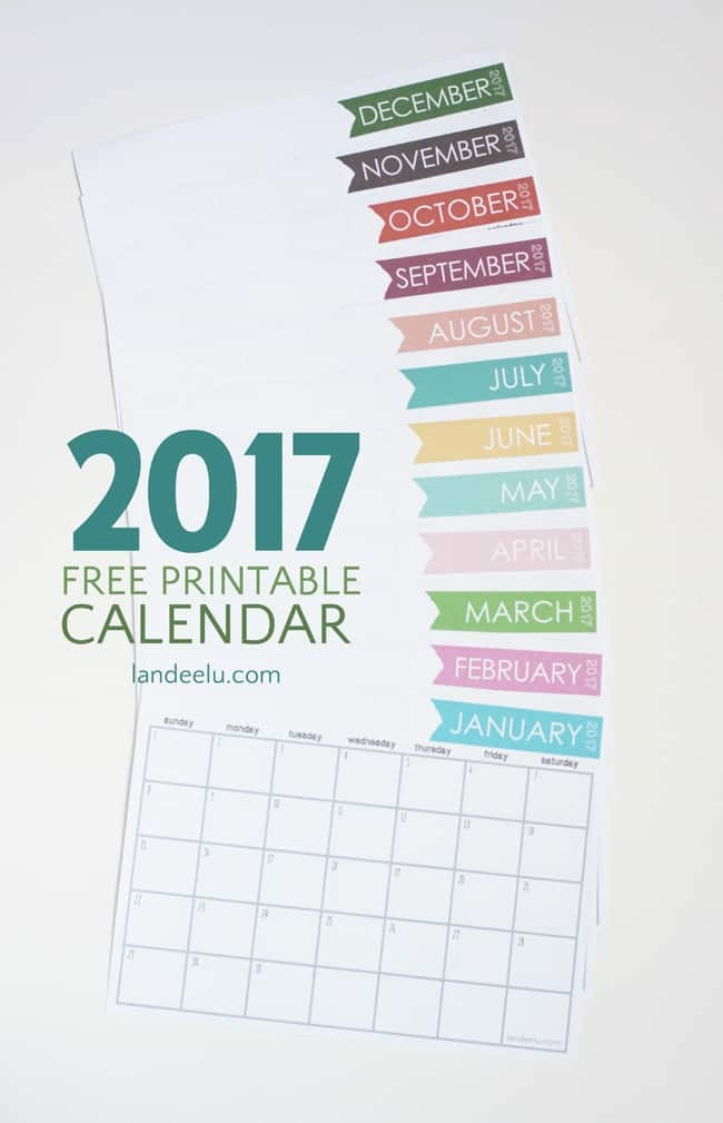 Free Download Of 2017 Calendar Best Of 25 Free Printable Calendars