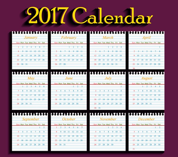 Free Download Of 2017 Calendar Best Of Calendar 2017 Free Vector 1 536 Free Vector for