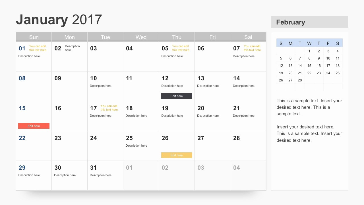 Free Download Of 2017 Calendar Elegant Free Calendar 2017 Template for Powerpoint