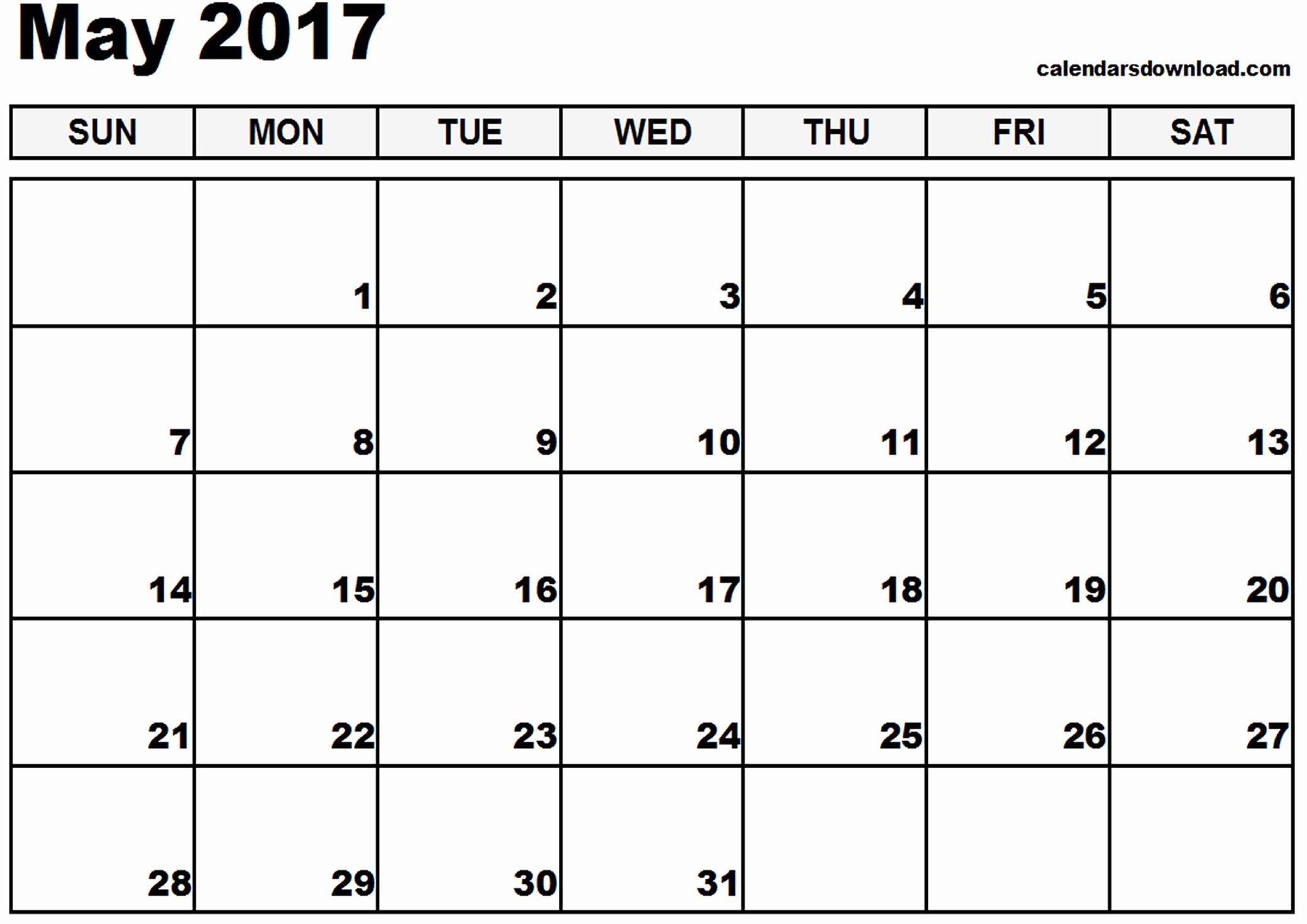 Free Download Of 2017 Calendar Elegant May 2017 Calendar