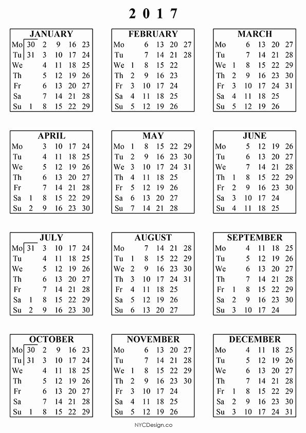 Free Download Of 2017 Calendar Elegant New York Web Design Studio New York Ny Free Printable