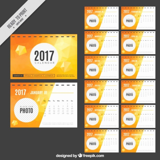 Free Download Of 2017 Calendar Inspirational Abstract 2017 Calendar Vector