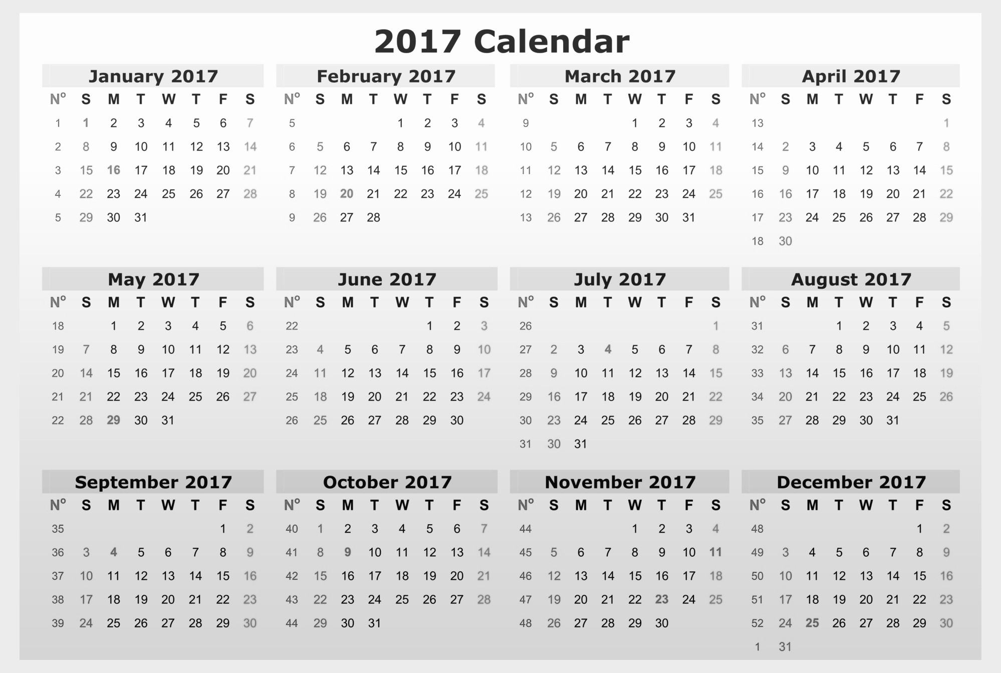 Free Download Of 2017 Calendar New Download Free Calendar 2017 Printable