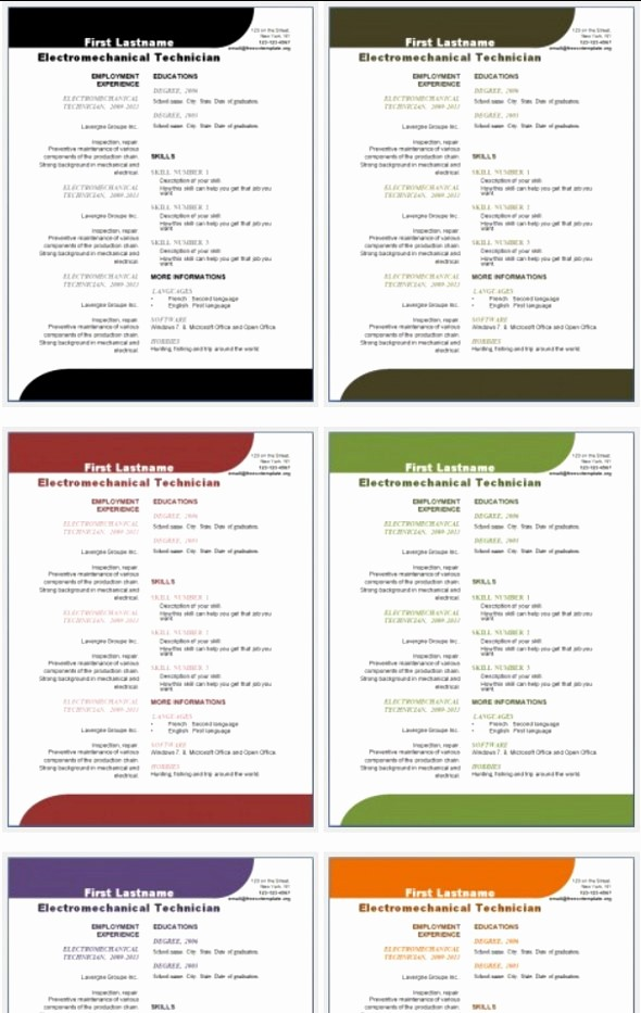 Free Download Templates for Word Elegant 50 Free Microsoft Word Resume Templates for Download