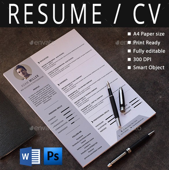 Free Download Templates for Word Fresh 26 Word Professional Resume Template Free Download