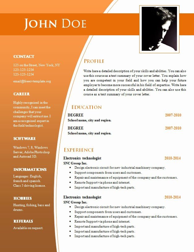 Free Download Templates for Word Fresh Cv Templates Free Download Word Document Templates