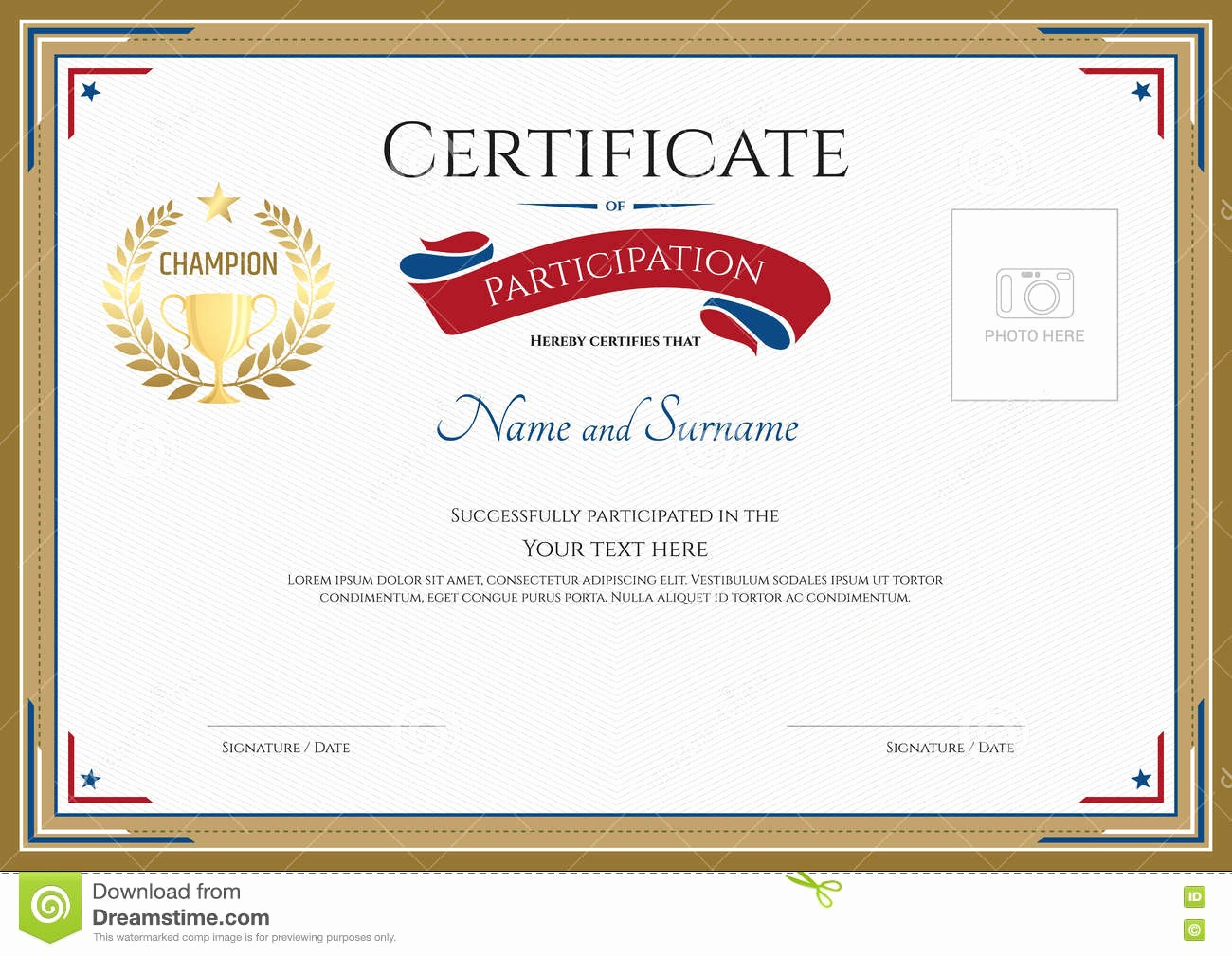 Free Download Templates for Word Inspirational Certificate Participation Template Free Download