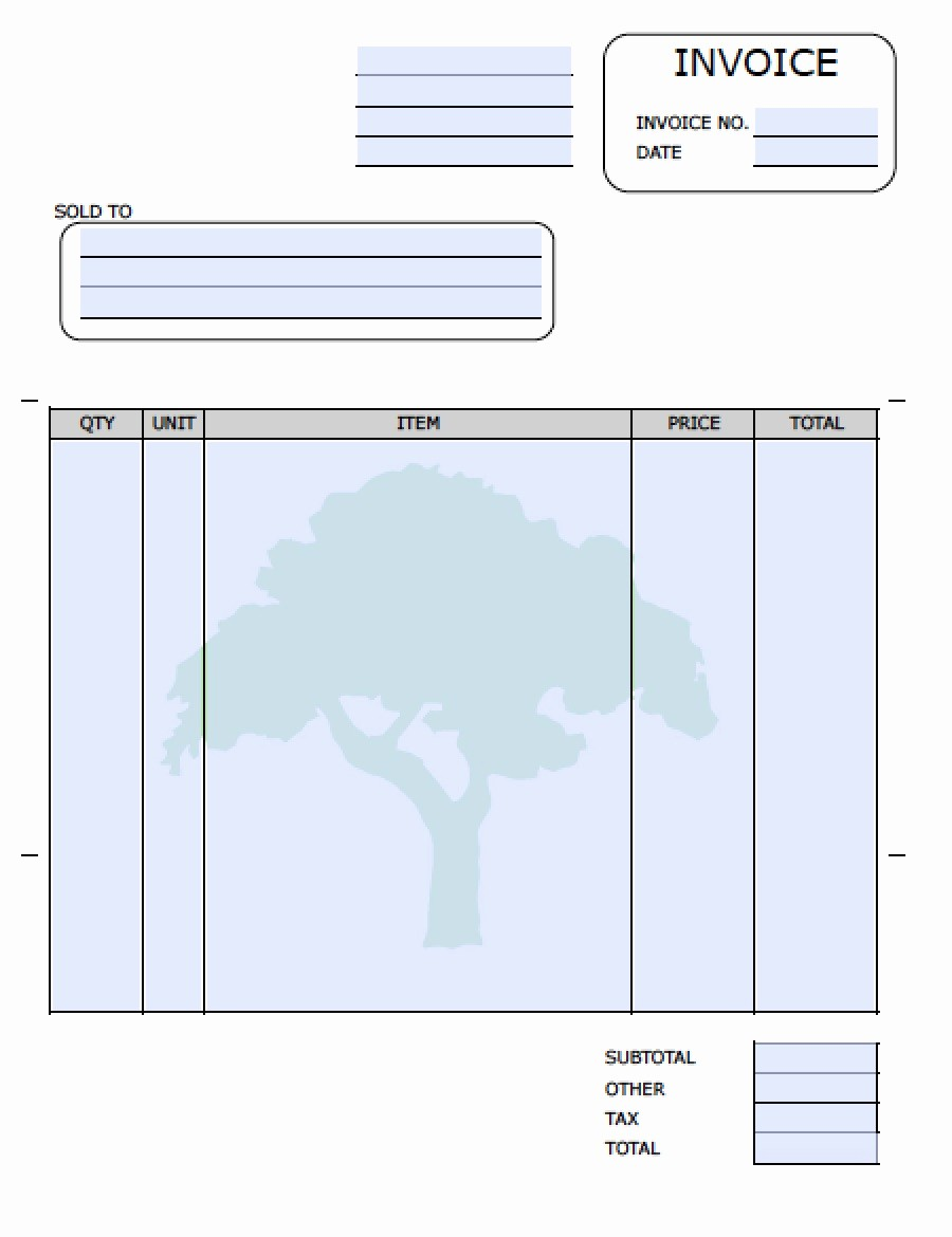 Free Download Templates for Word Inspirational Landscaping Invoice Template