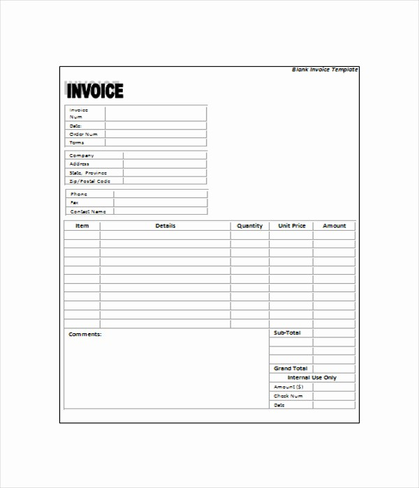 Free Download Templates for Word New 6 Blank Invoice Templates Free Word Pdf Documents Download