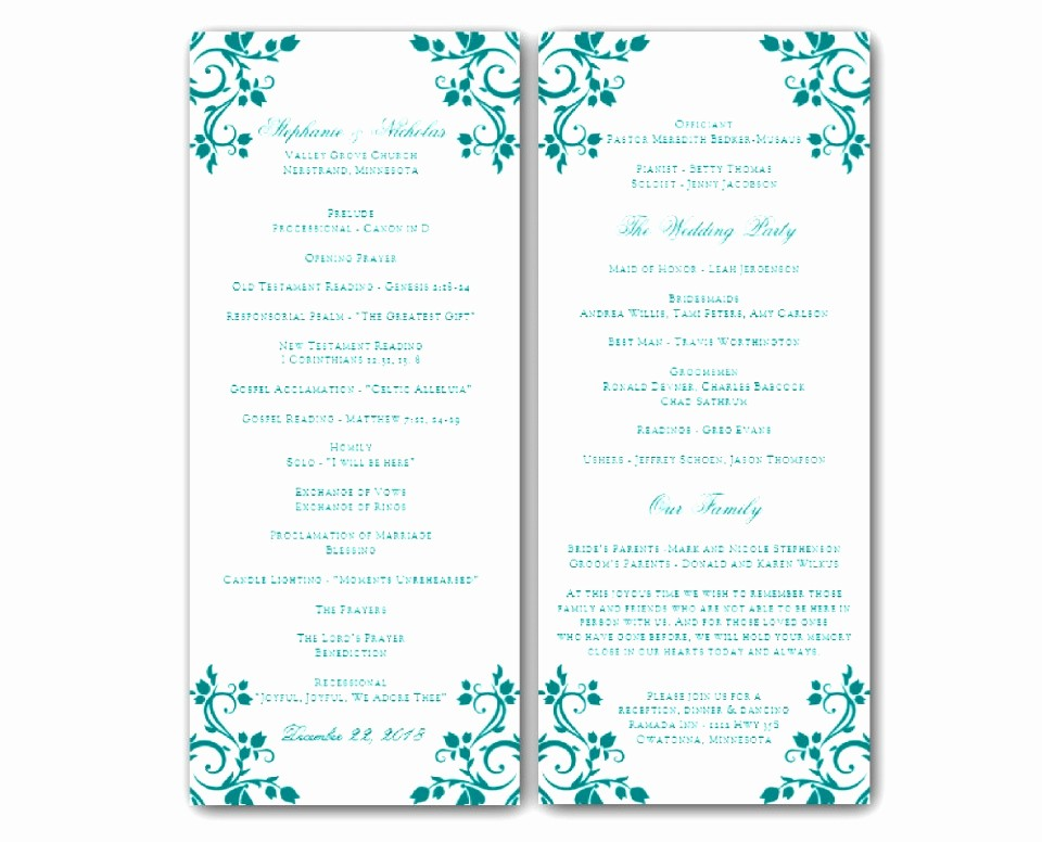 Free Download Templates for Word Unique 6 Downloadable Wedding Program Templates Free Awoop