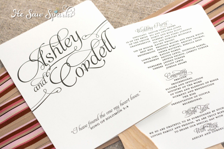 Free Download Wedding Program Template Beautiful 25 Of Wedding Fan Template Wording