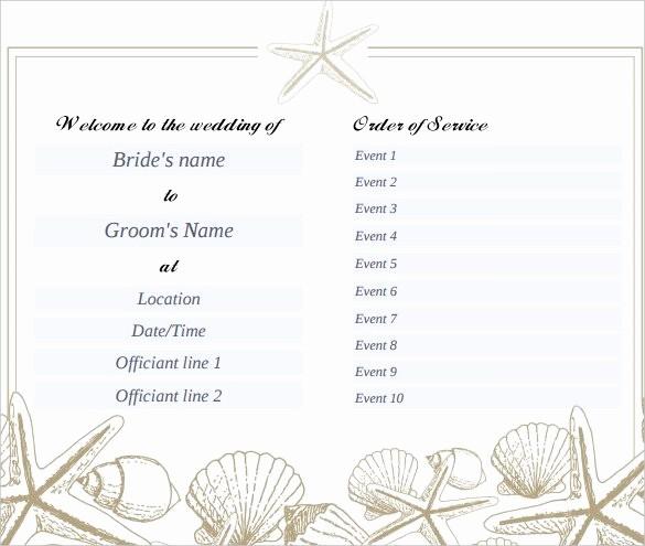 Free Download Wedding Program Template Beautiful 67 Wedding Program Template Free Word Pdf Psd