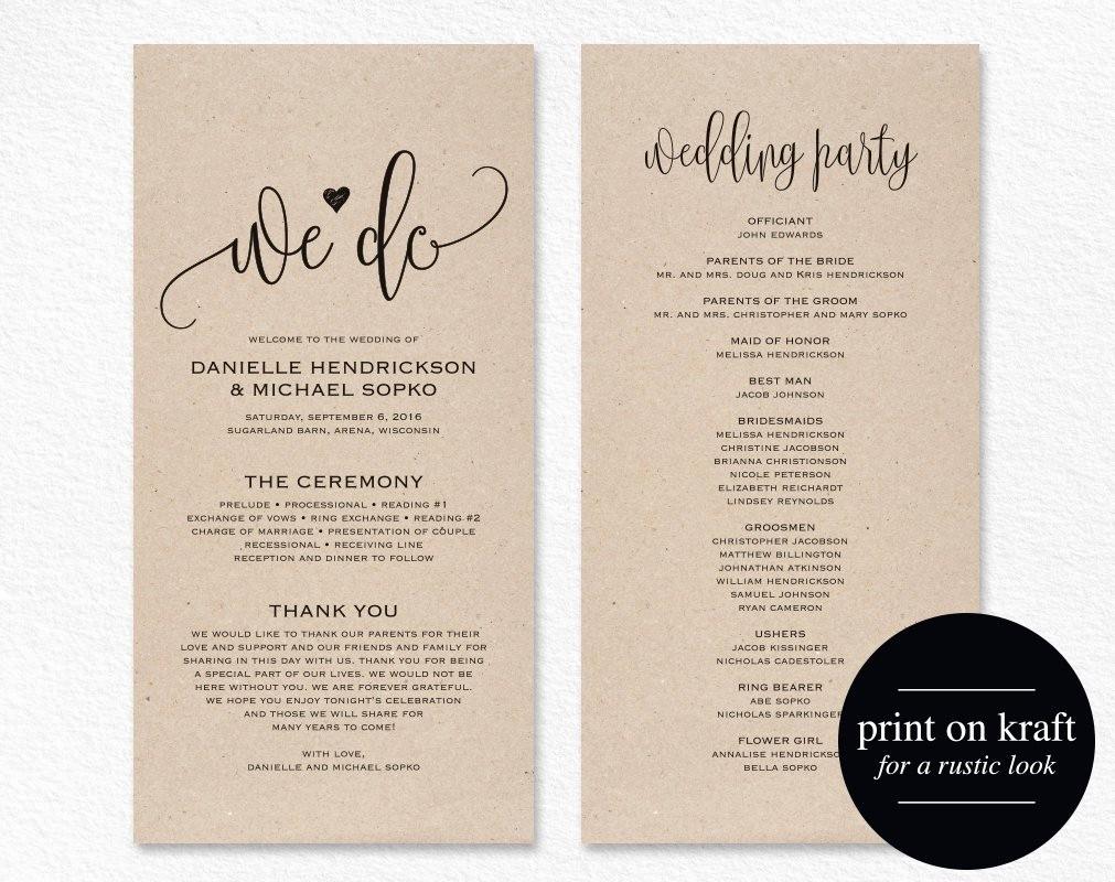 Free Download Wedding Program Template Beautiful Wedding Program Template Wedding Program Printable We Do