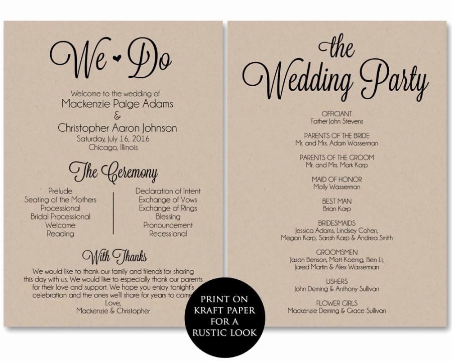 Free Download Wedding Program Template Elegant Ceremony Program Template Wedding Program Printable We