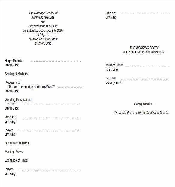 Free Download Wedding Program Template Elegant Wedding Program Templates – 15 Free Word Pdf Psd