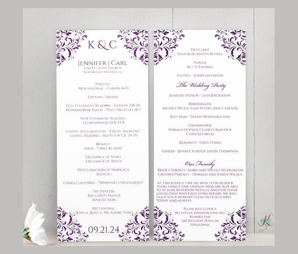 Free Download Wedding Program Template Fresh Free Downloadable Wedding Program Template that Can Be