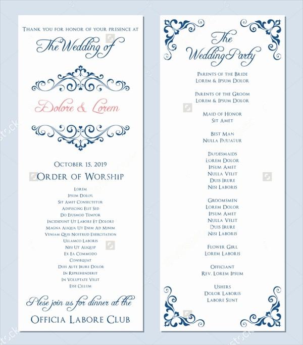 Free Download Wedding Program Template Inspirational 25 Wedding Program Templates Free Psd Ai Eps format