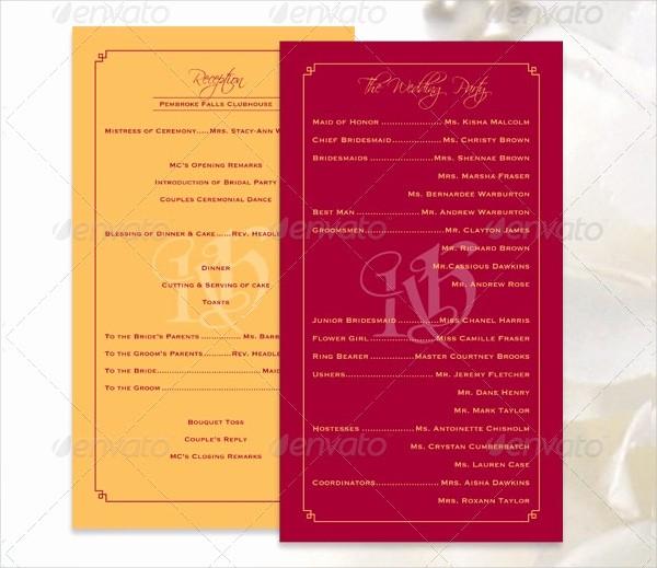Free Download Wedding Program Template Lovely 17 Wedding Program Template