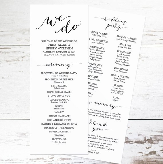 Free Download Wedding Program Template Luxury Printable Wedding Program Template Rustic Wedding Programs