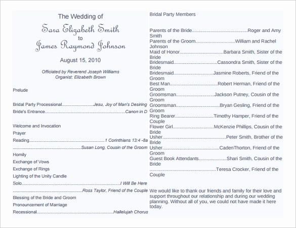 Free Download Wedding Program Template New 67 Wedding Program Template Free Word Pdf Psd