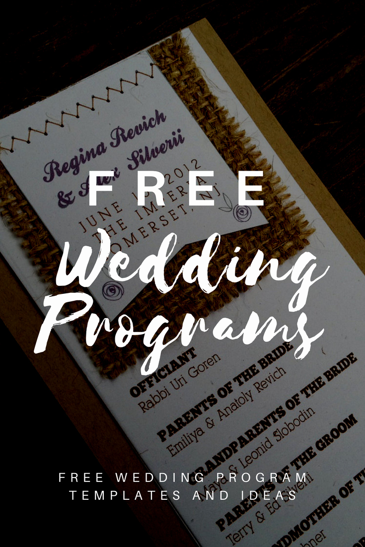 Free Download Wedding Program Template New Free Wedding Program Templates Wedding