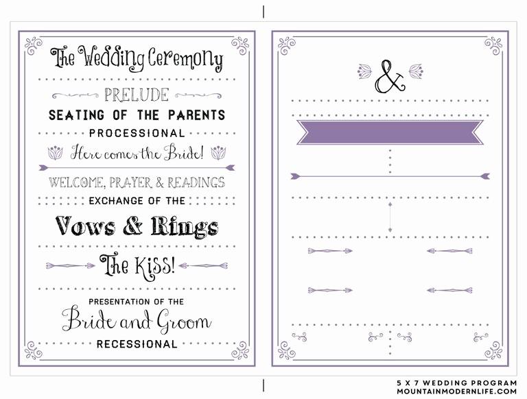 Free Download Wedding Program Template Unique 27 Free Wedding Program Templates You Ll Love