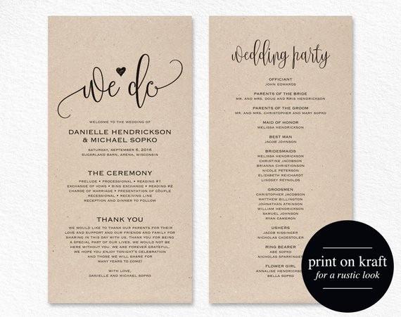 Free Download Wedding Program Template Unique Wedding Program Template Wedding Program Printable We Do