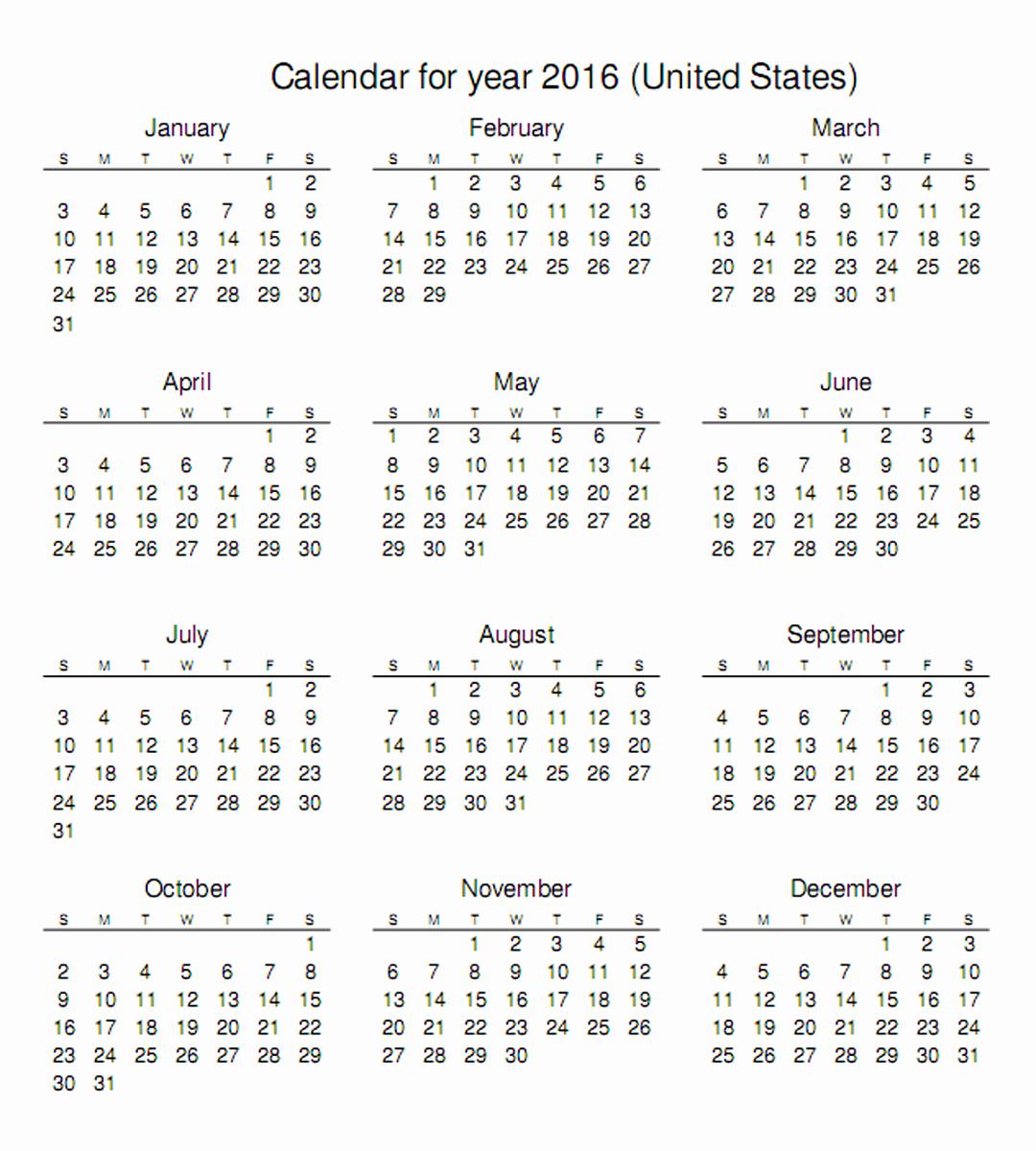 Free Downloadable 2016 Calendar Template Best Of 2016 Calendar Printable E Page