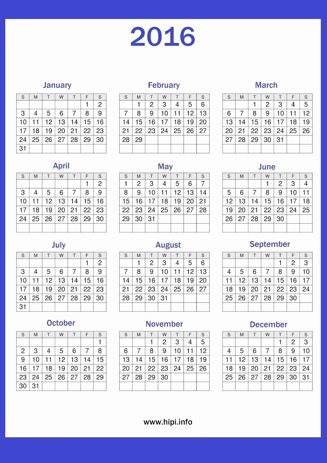 Free Downloadable 2016 Calendar Template Luxury Twitter Headers Covers Wallpapers Calendars