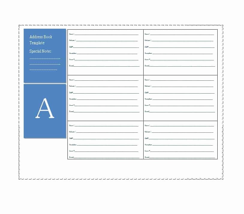 Free Downloadable Address Book Template Awesome 40 Printable & Editable Address Book Templates [ Free]