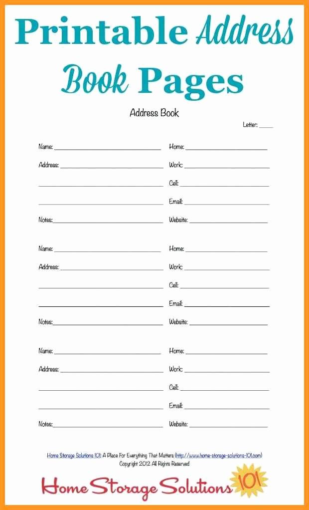 3 4 address template