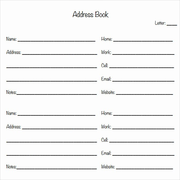 Free Downloadable Address Book Template Fresh 10 Address Book Samples