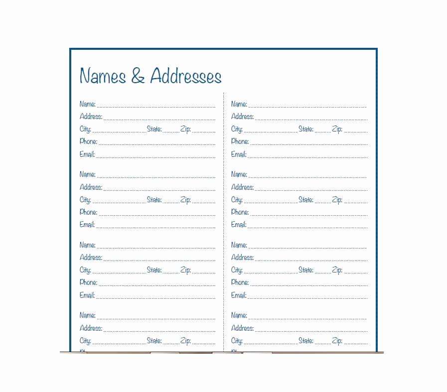 Free Downloadable Address Book Template Fresh 40 Printable & Editable Address Book Templates [ Free]