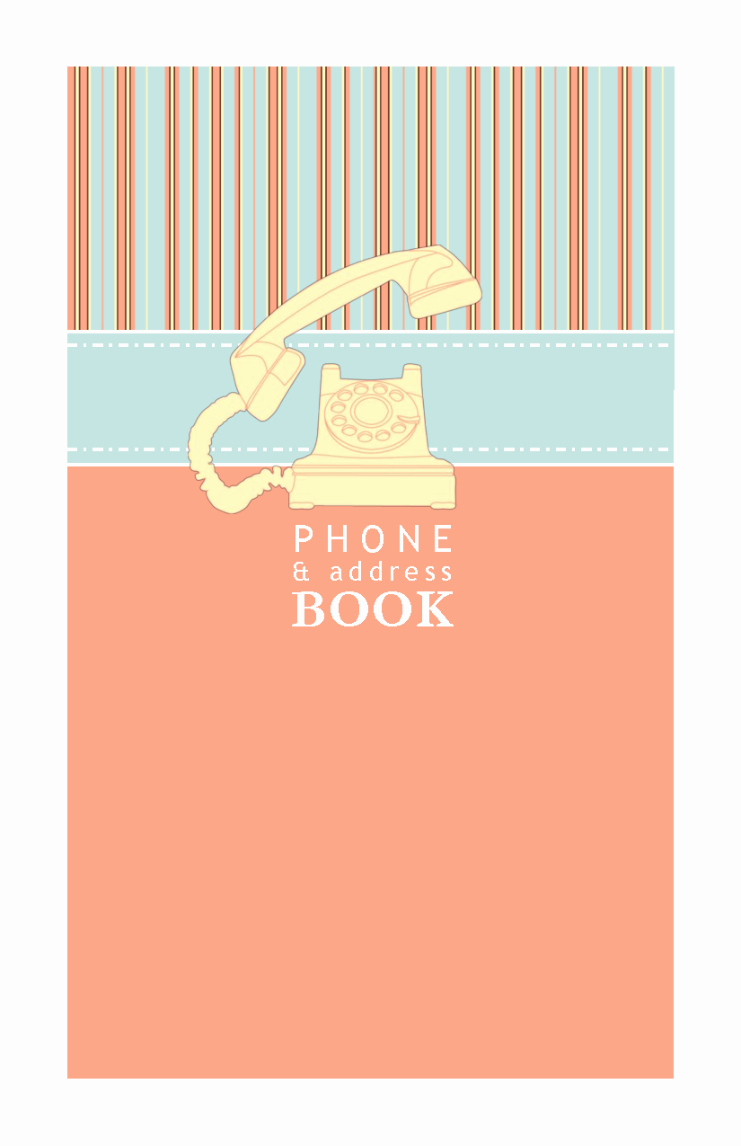 Free Downloadable Address Book Template Lovely 8 Best Of Phone Book Printable Printable Phone