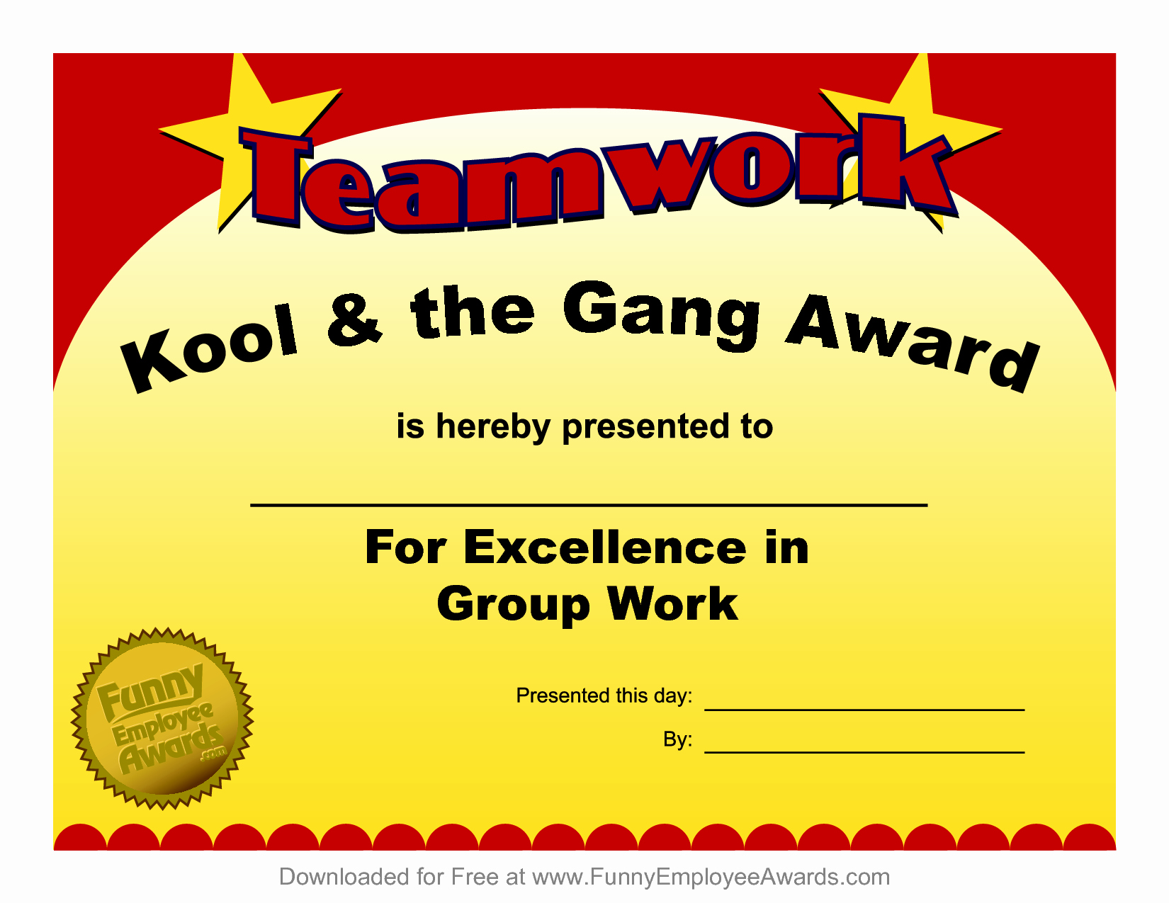 Free Downloadable Award Certificate Templates Awesome 8 Best Of Employee Award Certificate Templates